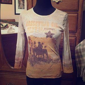 Sheer western shirt (has a little bling)